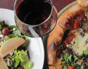 Pizza, Salad, and Beverage