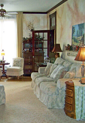 Parlor with couch and chair